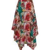 Poppy Asymmetric Printed Silk Crepe De Chine Midi Skirt - Red - Stella McCartney Skirts