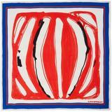 Red & Blue Silk Scarf - Red - CHARLES JEFFREY LOVERBOY Scarves