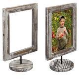 Gracie Oaks 2 Piece Tabletop Picture Frame Set Wood in Brown, Size 11.02 H x 6.98 W x 3.93 D in | Wayfair 30B1762BD2494390A1734D689C934ED3