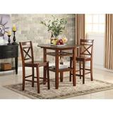 Red Barrel Studio® Tartys Counter Height Drop Leaf Dining Table Wood in Brown, Size 36.0 H in   Wayfair 15B7877843964FC88849EF4634F3A0B7
