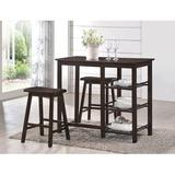 Red Barrel Studio® Nyssa 2 - Person Counter Height Dining Set Wood/Upholstered Chairs in Brown, Size 37.0 H in | Wayfair
