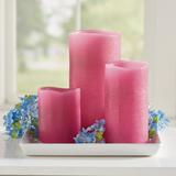 """Flameless Textured Battery Operated Candle - Mocha, 3"""" X 6"""" - Grandin Road"""