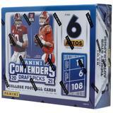 NFL 2021 Panini Contenders Draft Picks Collegiate Football Factory Sealed 6-Pack Hobby Box