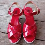 Michael Kors Shoes   Michael Kors Women'S Red Violet Patent Leather Wed   Color: Red   Size: 2
