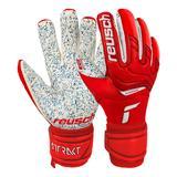 Reusch Attrakt Fusion Guardian Soccer Goalie Gloves Red