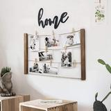 """Gracie Oaks Wood Picture Photo Frame For Hanging Wall Decor Collage Artworks Prints Multi Pictures Organizer DIY Wood Hanging Display Frames Inch 24""""X15.75"""" W Wood"""