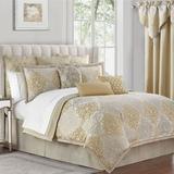 Wynne Comforter Set Gold, Queen, Gold
