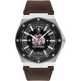 Aspire Brown Leather Strap Watch 42mm - Brown - Ferrari Watches