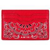 Bandana Cardholder - Red - Amiri Wallets