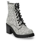 Sonoma Goods For Life Spotted Women's High Heel Combat Boots, Size: 8, Multicolor