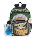 Star Wars: The Mandalorian 5-Piece The Child Backpack and Lunch Box Set, Multicolor