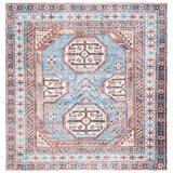 World Menagerie Karma Southwestern Light Blue/Area Rug Chenille/Cotton in Brown, Size 79.0 W x 0.39 D in | Wayfair 0E2CE7FDAD564B9F9C5B99CFDA6C452E