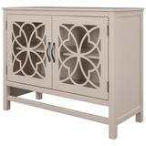 Red Barrel Studio® Wood Accent Buffet Sideboard Storage Cabinet w/ Doors & Adjustable Shelf, Entryway Kitchen Dining Room Wood in White | Wayfair