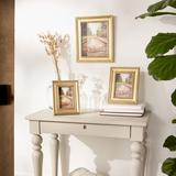 House of Hampton® 8X10 ANTIQUE SILVER RUB FARMHOUSE PICTURE FRAME Wood in Yellow, Size 0.75 H x 7.25 W x 9.25 D in | Wayfair