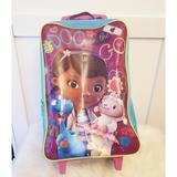 Disney Accessories | Doc Mc Stuffins Travel Suitcase | Color: Blue/Purple | Size: 18h X 12w