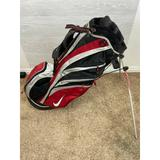 Nike Bags | Nike Stand Golf Bag 7 Way Dividers | Color: Black/Gray/Red/Tan | Size: Os