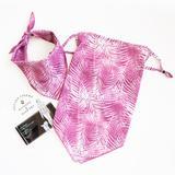 American Fashion Network Pet and Parent Palm Bandana & Mask Set, Small/Medium