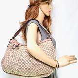 Gucci Bags   Auth Gucci Beige Canvas Hand Bag #3653g12   Color: Cream   Size: W:12.2 X H:11.0 X D:3.93