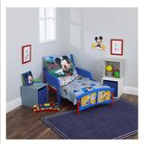 Disney Other | Mickey Mouse 4 Piece Having Fun Toddler Bedding | Color: Blue/Red | Size: Osb