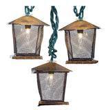 Kurt S. Adler 50749 - 10 Light Green Wire Brown Lantern String Set (UL2802)