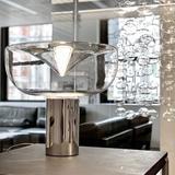 "Leucos Aella 19.69"" Table Lamp Glass/Metal in Yellow, Size 19.69 H x 21.26 W x 21.26 D in   Wayfair 11044"