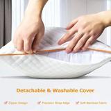 Alwyn Home Braud Down Alternative Plush Support Pillow Microfiber/Down Alternative, Size 20.0 H x 30.0 W x 5.0 D in | Wayfair