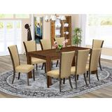 Red Barrel Studio® Rubberwood Solid Wood Dining Set Wood/Upholstered Chairs in Brown, Size 30.0 H in | Wayfair D0F705A8616E4B39A0EB52ACF321AA6E