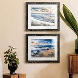 Highland Dunes Endless Horizon - 2 Piece Picture Frame Painting Set on Paper Paper in Black/Brown/Green, Size 17.0 H x 20.0 W x 1.0 D in | Wayfair