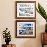 Highland Dunes Endless Horizon - 2 Piece Picture Frame Painting Set on Paper Paper in Black/Brown/Green, Size 20.0 H x 24.0 W x 1.0 D in | Wayfair