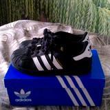 Adidas Shoes   Boys Adidas Shell Toe Tennis Shoes   Color: Black   Size: 2.5bb