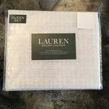 Ralph Lauren Bedding   Nwt Ralph Lauren Damask Scroll Queen 4pc Sheet Set   Color: Blue/White   Size: Queen