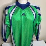 Adidas Shirts   Adidas Long Sleeve Goalie Jersey Mens Size Small   Color: Green   Size: S