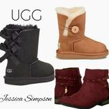 Jessica Simpson Shoes | Jessica Simpson And Ugg Bailey Bow And Button | Color: Purple/Red | Size: 7bb