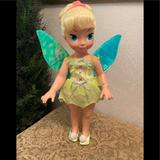Disney Toys | Disney Playmates 2004 Tinkerbell Doll With Wings | Color: Green | Size: None