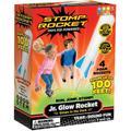Stomp Rocket Spiel Jr. Glow, 4 Rkts, mit Glow-in-the-Dark-Effekt, Startrampe und Kompressionskissen bunt Kinder Gartenspiele Outdoor-Spielzeug