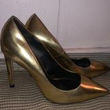 Zara Shoes   Gold Zara Pointed Toe Pump Heels   Color: Gold   Size: 7