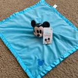 Disney Other | Disney Mickey Mouse Baby Lovey Security Blanket | Color: Blue | Size: Osbb
