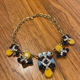 J. Crew Jewelry   J Crew Rhinestone Necklace - Multicolor   Color: Gold/Yellow   Size: 17, 18, 19, 20 Inch Options