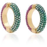 Lili Multi-stone 12k Gold-plated Ear Cuffs - Purple - DEMARSON Earrings