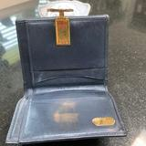 Gucci Bags | Gucci Wallet With Billfold, Coin Purse And 5 Card | Color: Blue | Size: 4 12 X 4 Closed 7 12 Open