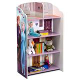 Frozen II Wooden Playhouse 4-Shelf Bookcase for Kids - Delta Children FL86761FZ-1097
