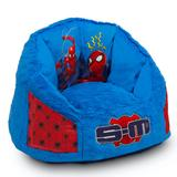 Spider-Man Cozee Fluffly Chair in Kid Size (For Kids Up To 10 Year Old) - Memory Foam in Seat - Delta Children UP83838SM-1163