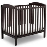 Sprout Mini Convertible Baby Crib with Mattress in Dark Chocolate - Delta Children GN10007-207