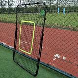 slai Professional Galvanized Steel Pipe Rebound Soccer/Baseball Goal in Black, Size 31.5 H x 35.43 W x 55.12 D in   Wayfair SLAI5acb424