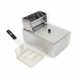 JOYGOGO 6 Liter Deep Fryer Stainless Steel in Gray, Size 12.2 H x 17.3 W x 11.0 D in | Wayfair 3655