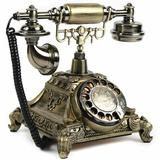 Astoria Grand Retro European Style Telephone Vintage Old Fashioned Rotary Dial Phone in Yellow, Size 10.24 H x 9.25 W x 10.83 D in | Wayfair