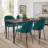 Latitude Run® Upholstered Side Chair/Dinning Chair (Set Of Two) Wood/Upholstered/Fabric in Green, Size 319.0 H x 181.0 W x 197.0 D in | Wayfair
