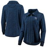 Women's Tommy Bahama Navy Dallas Cowboys Sport Shell We Dance Tri-Blend Full-Zip Sweatshirt