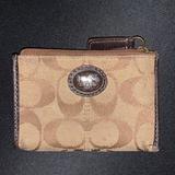 Coach Accessories | Coach Mini Skinny Wallet Card Case Zipper | Color: Brown/Tan | Size: Os