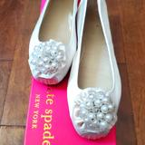 Kate Spade Shoes   Kate Spade Ballet Flats   Color: White   Size: 7.5